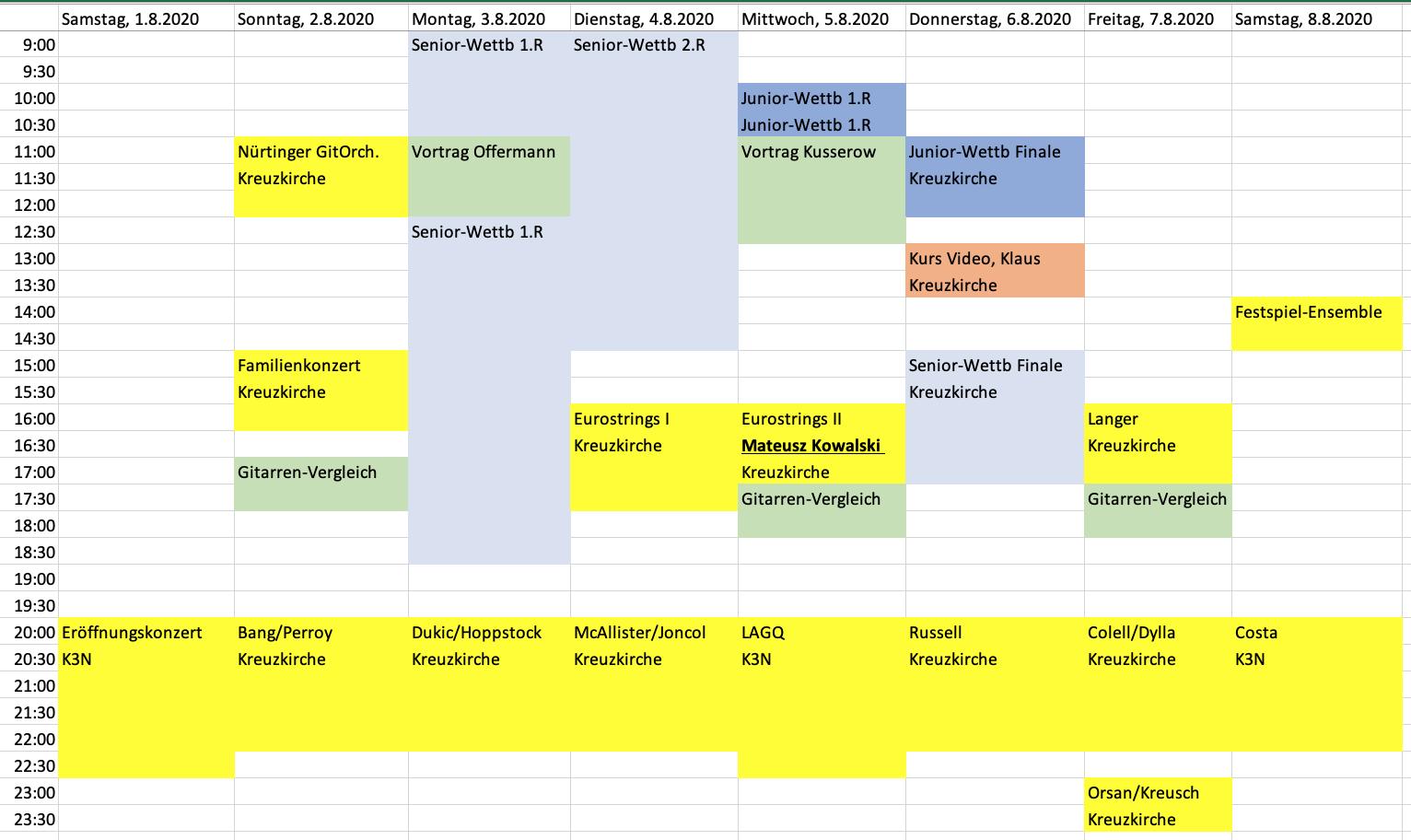 Festival-Gesamtplan